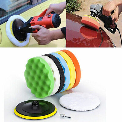 "7"" 6'' 5"" Polishing Sponge Waxing Buffing Pad Compound Auto CAR Polisher Drill"