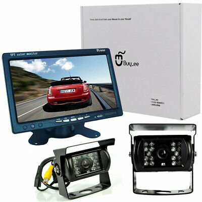 "7"" TFT LCD Monitor Car Bus Rear View Kit+2* IR Night Vision Reversing CCD Camera"