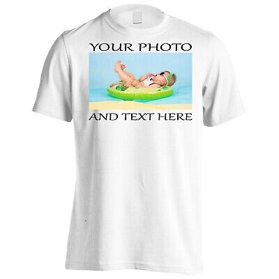 Custom Printed Personalised T-Shirt ART Party Promotional Adult Kids Brand New