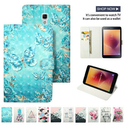 "3D Smart Magnetic Case for Samsung Tab A 8"" T380 10.5"" T590 Folding Stand Cover"