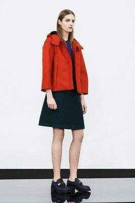 a5bb457d SEE BY CHLOE Cropped Spring Jacket Pea Coat Style Navy Blue Cotton ...