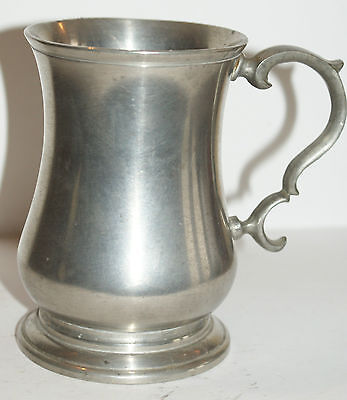 Chope à bière en étain Pinte London H:11cm Potstainiers 25CL beer pint pewter