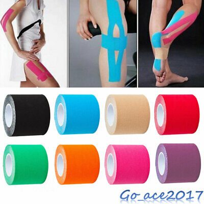 5m Sports Kinesiology Tape Elastic Physio Muscle Tape PRO Pain Relief Support KT