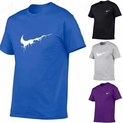 Mens Casual T Shirts Summer Basic Tees Classic Solid Crew Neck Tops Pullover New