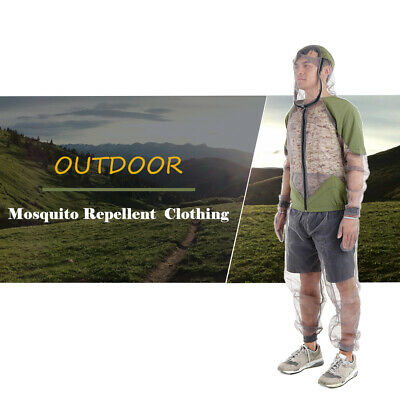 Outdoor Mosquito Repellent Suit Bug Jacket Mesh Hooded Suits Fishing R4X5