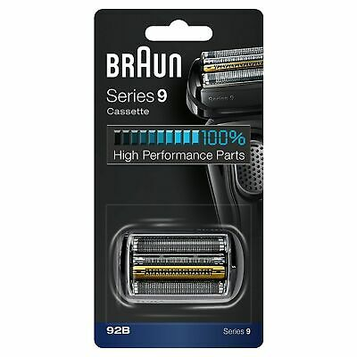 OFFICIAL! SERIES 9 BRAUN 92B BLACK Replacement Foil and Cutter Cassette
