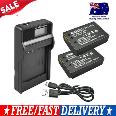 AU Ship 2X 1100mAh LP-E12 Battery or LCD Chager for Canon Rebel SL1 EOS-M EOS EG