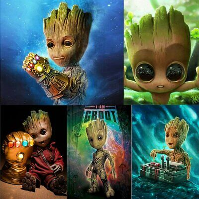 Groot Full Drill 5D Diamond Painting Embroidery Cross Crafts Stitch Kit Decor Ty
