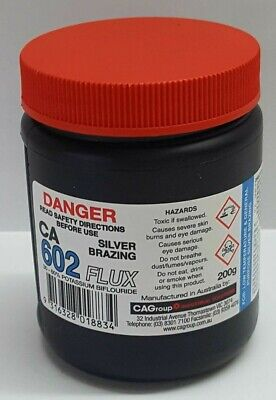 Consolidated Alloys CA-602 SILVER BRAZING SOLDER FLUX 200g White Paste Aust Made