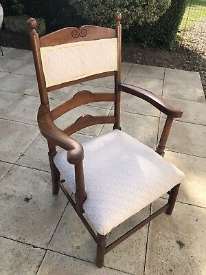 Antique Victorian Mahogany Nursing Elbow Chair