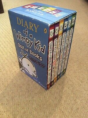 VGC Diary of a Wimpy Kid, Box Set 1-6, childrens paperback books by Jeff Kinney