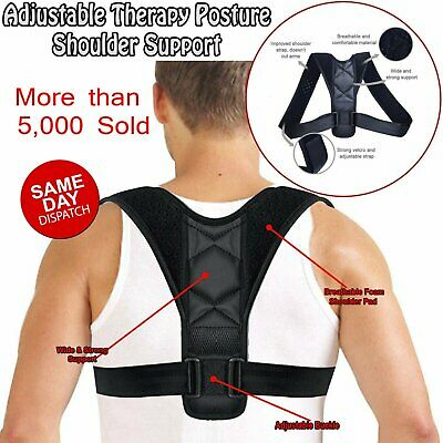 Posture Clavicle Support Corrector Back Straight Shoulders Brace Strap Correct #