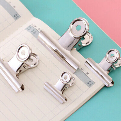 Silver Stainless Steel Bulldog Letter File Grip Document Binder Clip Paper Clamp