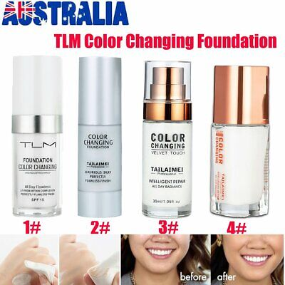 TLM Flawless Color Changing Foundation Makeup Base Face Liquid Cover Concealer v