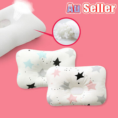 Baby Infant Newborn Prevent Flat Head Neck Syndrome Support Square Pillow 20vw