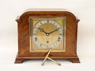 Elliott Elliot Walnut Twin Westminster / Whittington Chime Mantle Mantel Clock