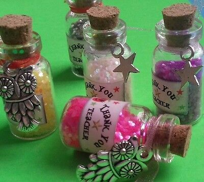 Thank you Teacher Gift / Fairy Dust Bottle with Star Charm & Gift Bag / School