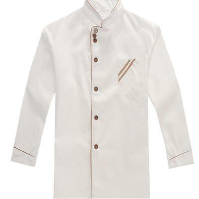 Chef Jacket Kitchen Cooking Long Sleeves Restaurant Waiter Uniform Coats   ONE