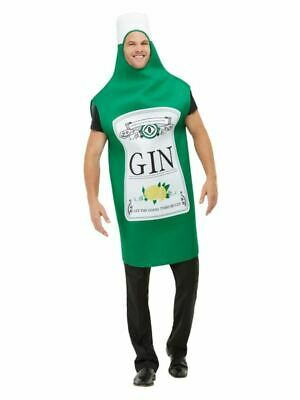 Mens Gin Bottle Fancy Dress Costume Stag Do Party Outfit Funny Joke (One Size)