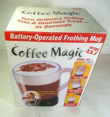 Coffee Magic Battery Operated Frothing Mug ,New