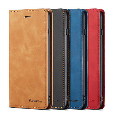 Leather Wallet Flip Case Cover Stand Card Holder For iPhone 7 Plus XS Max X 6s 8
