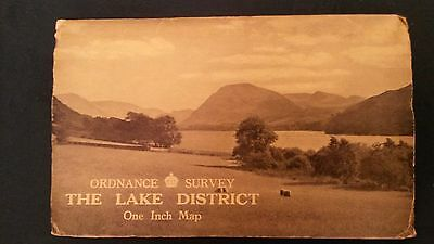 Vintage 1948 Ordnance Survey Map Dissected  Cloth Lake District Alfred Furness