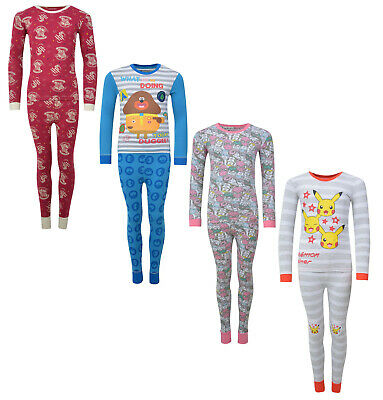Boys Girls Pyjamas Character Snug Fit Pj Sets 1-14 Years Night Wear Brand New