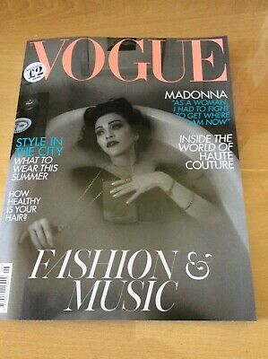 Uk Vogue Magazine - June 2019  - Madonna Cvr + 12 Pages - Whitney Houston Buy It
