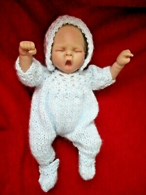 """Doll Clothes Blue set romper bonnet Fit baby Boy Truly Real 10""""  Vogue Ginny 12"""""""