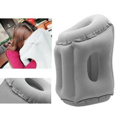 Inflatable Travel Nap Camping Pillow Air Cushion Neck Support Pillow+Storage Bag
