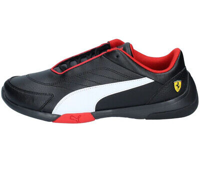 Puma Men's SCUDERIA FERRARI KART CAT III Shoes Black/White 306219-02 d