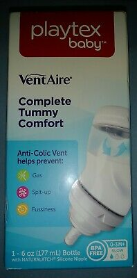 Playtex Bottle VentAire Slow Flow 6oz for 0-3 Months