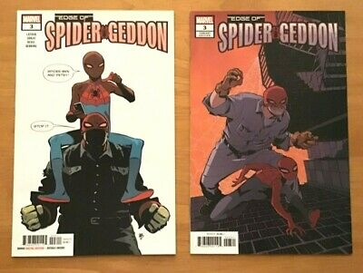 Edge of Spider-Geddon 3 Tonci Zonjic Main Cover + Cully Hamner Variant Cover NM