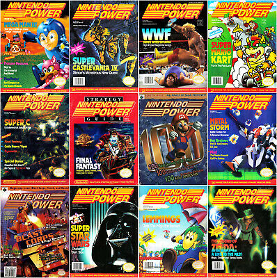 Nintendo Power Magazine's 1988-1997 (1-100) DVD + EXTRAS PDF's Retro Super 8-Bit
