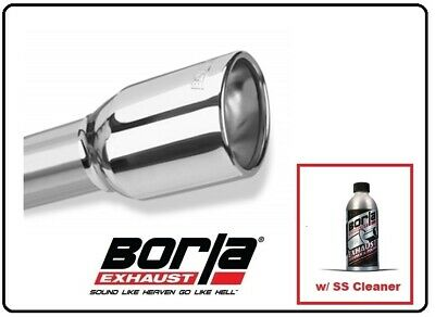 """Borla 20237 Exhaust Tip 2.25/"""" Inlet 3.5/"""" Round Rolled Angle Cut Outlet 6.5/""""L"""