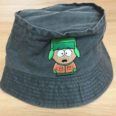 "VINTAGE Comedy Central South Park Kyle ""You Bastards!"" Green Bucket Hat Cap"