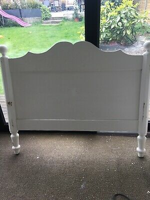 Vintage French Single Primed Sleigh Bed