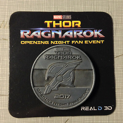 Thor Ragnarok Movie Opening Night Fan Event Collectors Coin Marvel Avengers Hulk