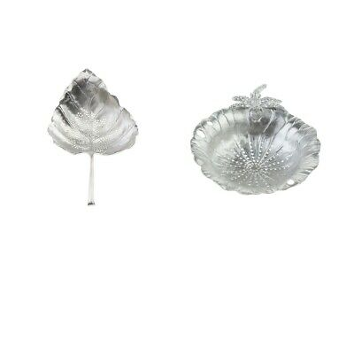 2 Leaf Style Tea Infuser Filter Strainers Loose Leaf Pure Tin for Tea Party