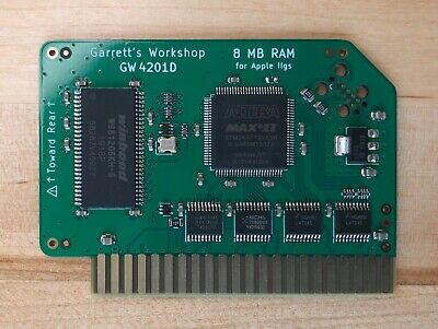 """Apple IIgs 4 Mbyte RAM Expansion - New 2019 Production """"GW4201A"""" GOLD-PLATED"""