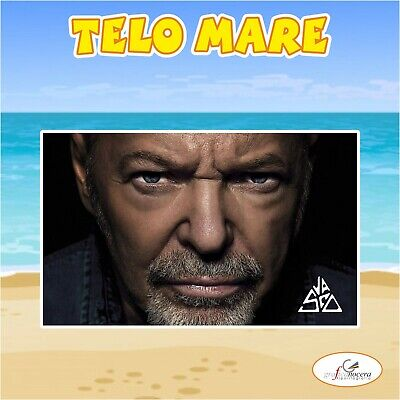 Asciugamano Telo Mare in spugna Vasco Rossi cantante idolo idea regalo estate