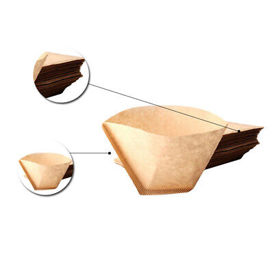 100Pcs/Pack Coffee Filter Papers Coffee/Tea Filtering Unbleached Wooden Paper
