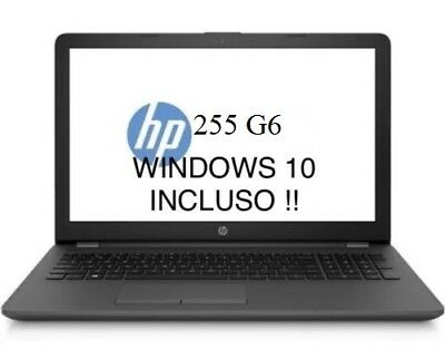 Notebook Nuovo Hp 1Wy10Ea 255 G6 Amd Dual 4Gb Ram Ddr4/Hdd 500Gb/Windows 10