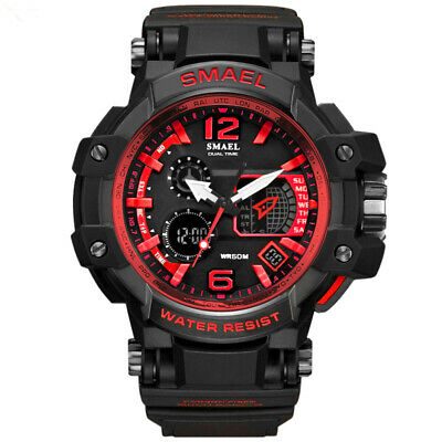 SMAEL waterproof double display men's watch LED electronic watch SL1509 red