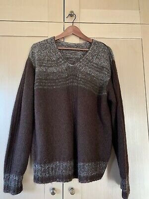 Hand Made Brown Mohair mans jumper large
