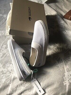 Girl's Lacoste Lydro White Shoes Size C13 New With Box Rrp£37.99