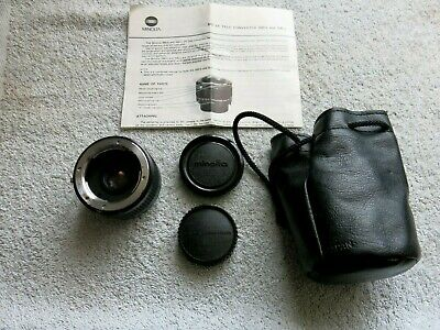 MINOLTA MD 2x TELE CONVERTER 300-S BAYONET MOUNT WITH CAPS / CASE & INSTRUCTION
