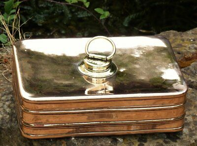 Antique copper car or carriage foot warmer hot water bottle