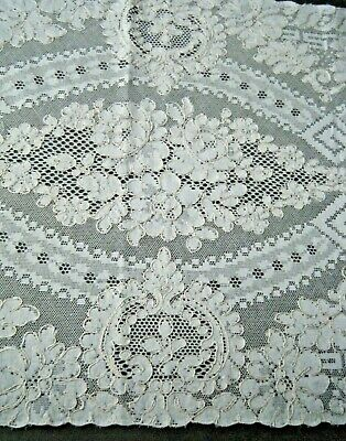 "Antique French Alencon lace dresser runner rectangular shape 36""x15"" Euroipe"