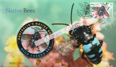 PNC Australia 2019 Native Bees Medallion Coloured Limited Edition 2500